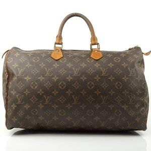 Auth Louis Vuitton Speedy 40 Boston Bag #2863L15